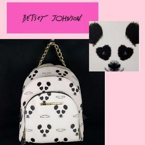 Betsey Johnson Large Full Size Panda Bear Backpack